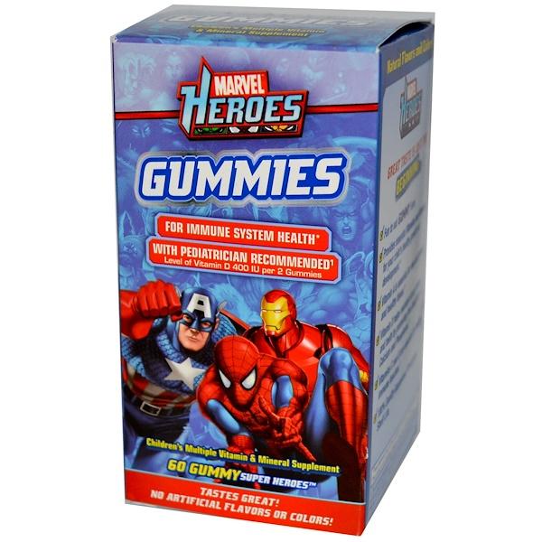 Sundown Naturals, Marvel Heroes Gummies, 60 Gummy Super Heroes (Discontinued Item)