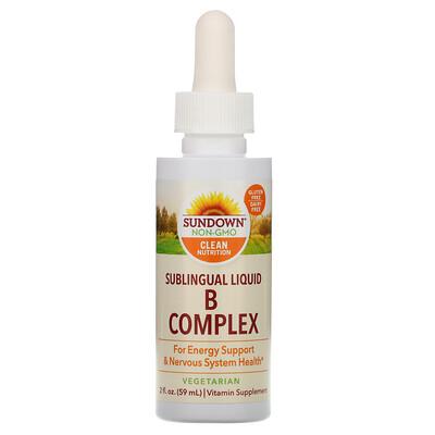 Купить Sundown Naturals Сублингвальный комплекс витаминов В с витамином В-12, 2 жидкие унции (59 мл)