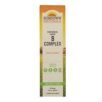 Сублингвальный комплекс витаминов В с витамином В-12, 2 жидкие унции (59 мл) - фото