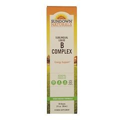 Sundown Naturals, Sublingual Liquid B Complex, 2 fl oz (59 ml)