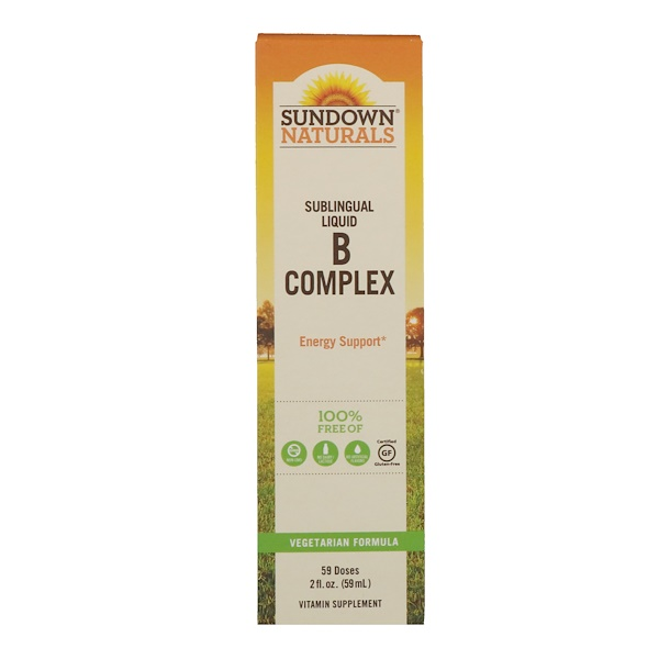 Sundown Naturals, Sublingual Liquid B Complex, 2 fl oz (59 ml)