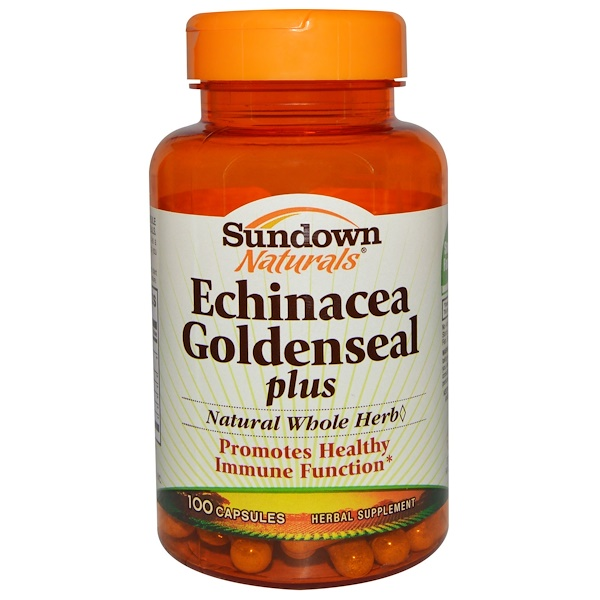 Sundown Naturals, Echinacea Goldenseal plus, 100 Capsules (Discontinued Item)