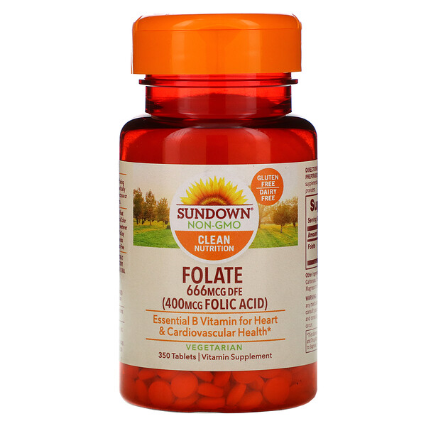 Folate, 666 mcg DFE, 350 Tablets
