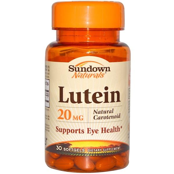Sundown Naturals, Лютеин, 20 мг, 30 мягких капсул (Discontinued Item)