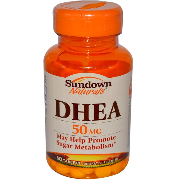 Sundown Naturals, DHEA, 50 mg, 60 Tablets (Discontinued Item)