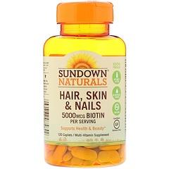 Sundown Naturals, الشعر، البشرة، الأظافر، 120 كبسولة