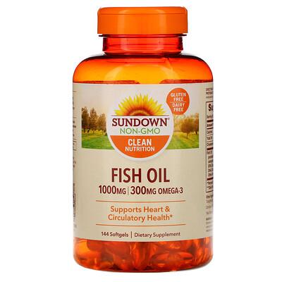 Купить Sundown Naturals Рыбий жир, 1000 мг, 144 мягких таблеток