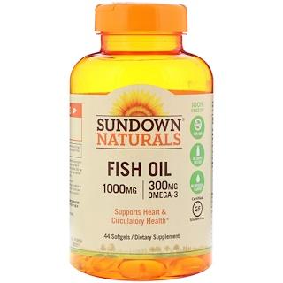 Sundown Naturals, 魚油,1000毫克,144粒軟膠囊