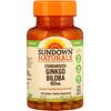 Sundown Naturals, Ginkgo Biloba Padronizado, 60 mg, 100 Comprimidos