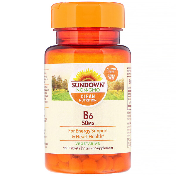 Sundown Naturals, B6, 50 mg, 150 Tablets (Discontinued Item)