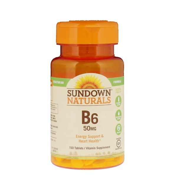 Sundown Naturals, B6, 50 mg, 150 Tablets