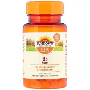 Сандаун Нэчуралс, B6, 50 mg, 150 Tablets отзывы