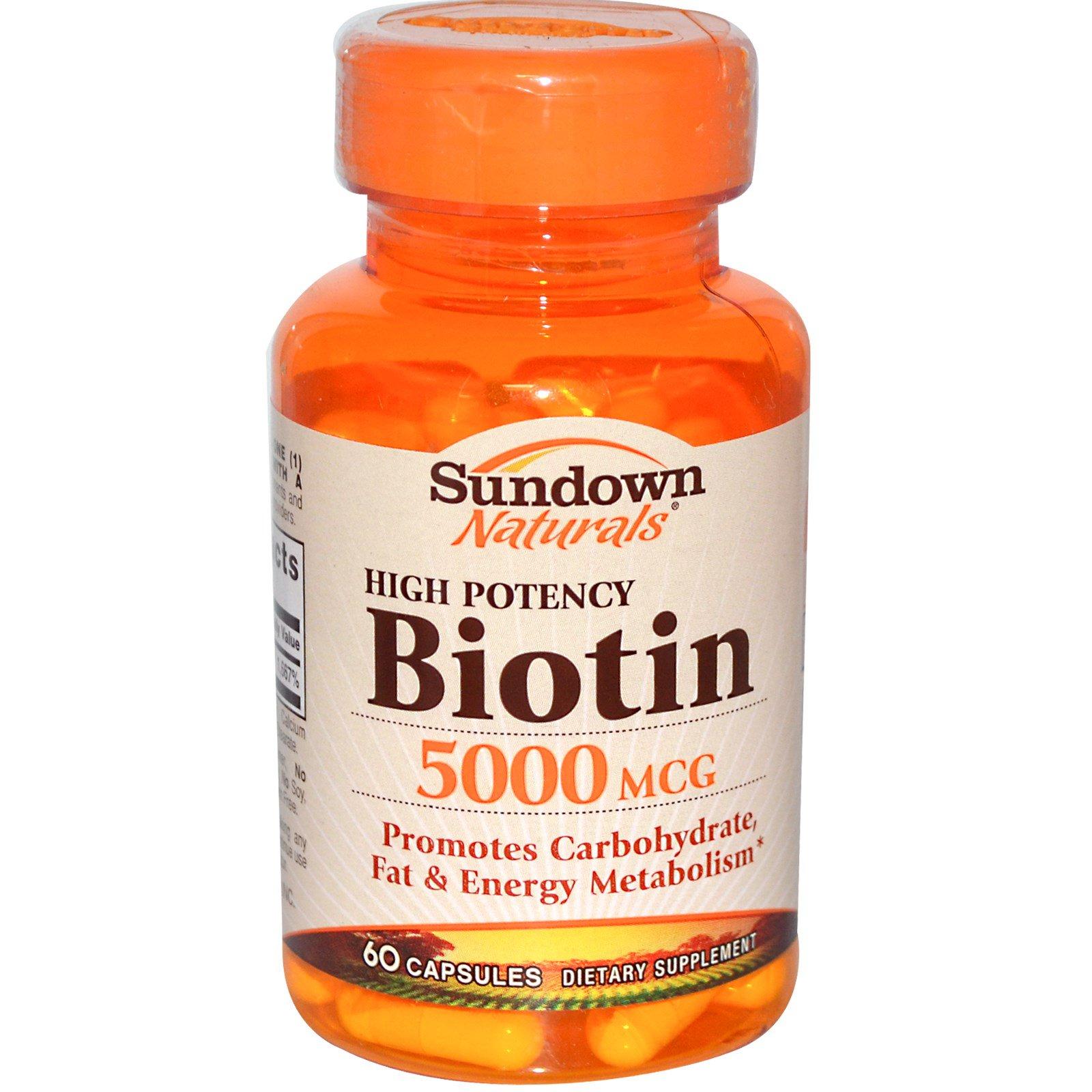Sundown Naturals High Potency Biotin  Mcg Reviews
