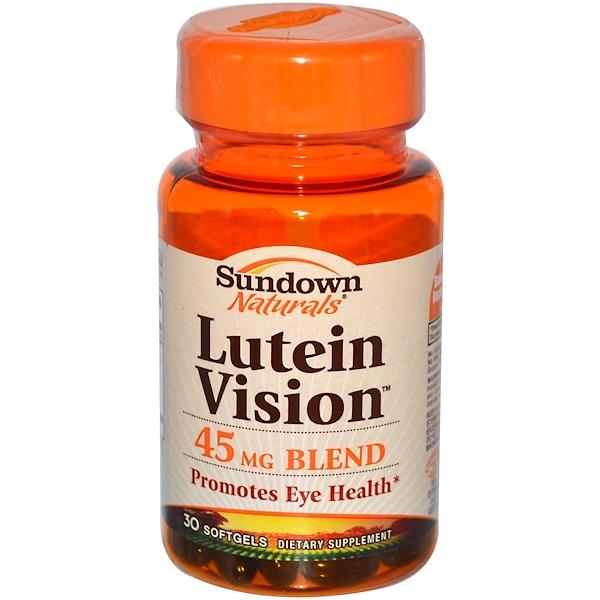 Sundown Naturals, Лютеин, поддержка зрения 30 гелевых капсул (Discontinued Item)