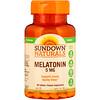 Sundown Naturals, Melatonina, Força extra, 5 mg, 90 comprimidos