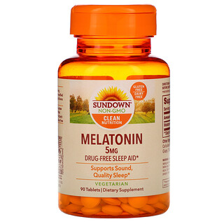 Sundown Naturals, Melatonin, 5 mg, 90 Tablets