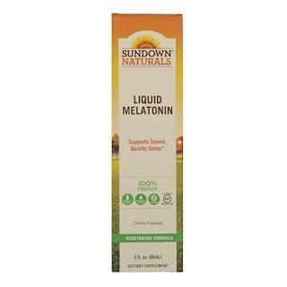 Sundown Naturals, Жидкий мелатонин, Со вкусом вишни, 2 ж. унц.(59 мл)