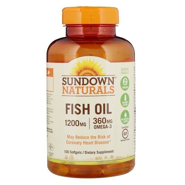 Sundown Naturals, 魚油,1200毫克,100粒