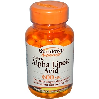 Sundown Naturals, Super Alpha Lipoic Acid, 600 mg, 60 Capsules