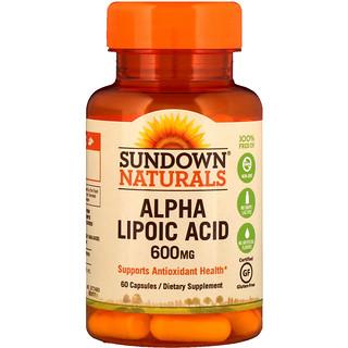 Sundown Naturals, Alpha Lipoic Acid, 600 mg, 60 Capsules