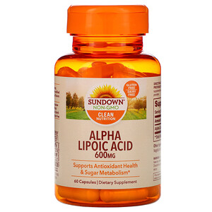 Сандаун Нэчуралс, Alpha Lipoic Acid, 600 mg, 60 Capsules отзывы покупателей