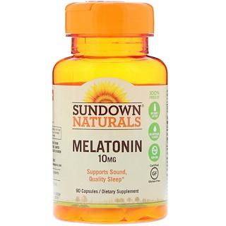 Sundown Naturals, Мелатонин, 10 мг, 90 капсул