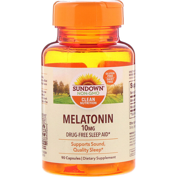 Sundown Naturals, Melatonin, 10 mg, 90 Capsules