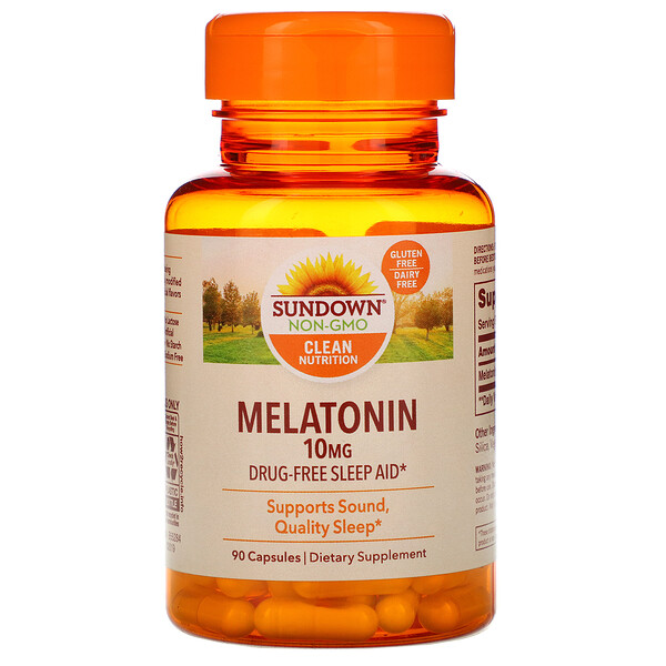 Melatonin, 10 mg, 90 Capsules