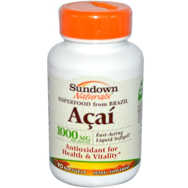 Sundown Naturals, Acai, 90 Softgels (Discontinued Item)