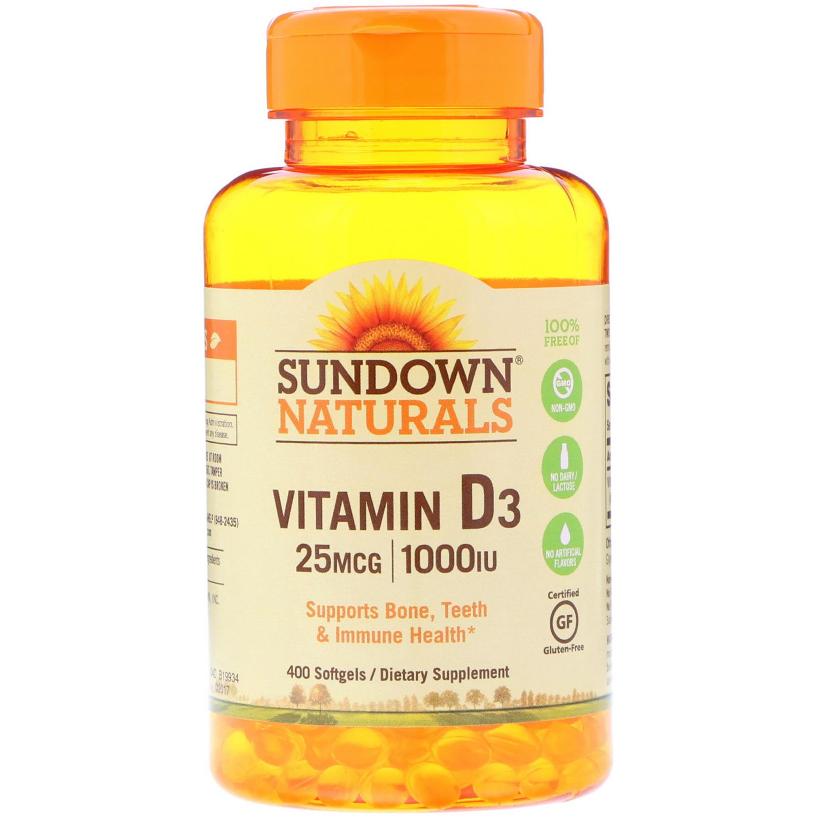 sundown naturals vitamin d3 25 mcg 1 000 iu 400 softgels. Black Bedroom Furniture Sets. Home Design Ideas