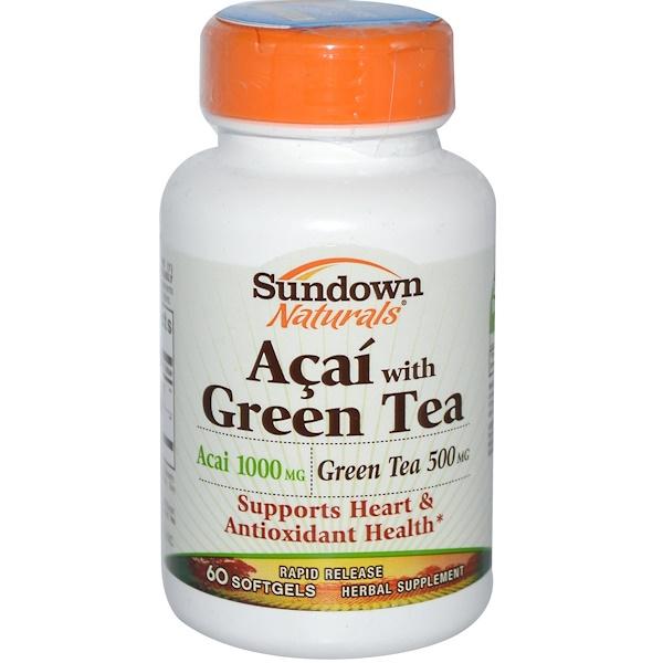 Sundown Naturals, Acai with Green Tea, 60 Softgels (Discontinued Item)