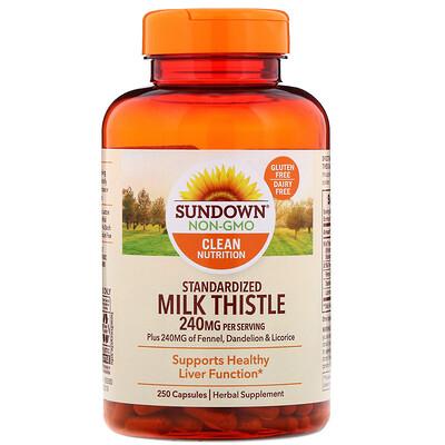 Купить Стандартизированная расторопша пятнистая, 240 мг, 250 капсул