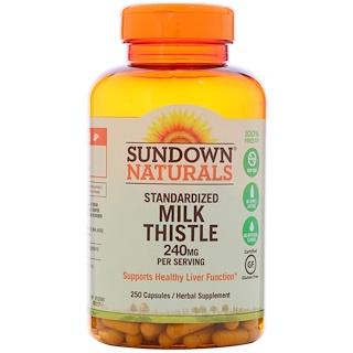 Sundown Naturals, Standardized Milk Thistle, 240 mg, 250 Capsules