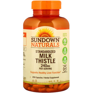 Sundown Naturals, Standardized Milk Thistle, 240 mg, 250 Capsules