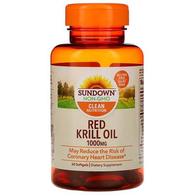Sundown Naturals Масло красного криля, 1000мг, 60мягких таблеток