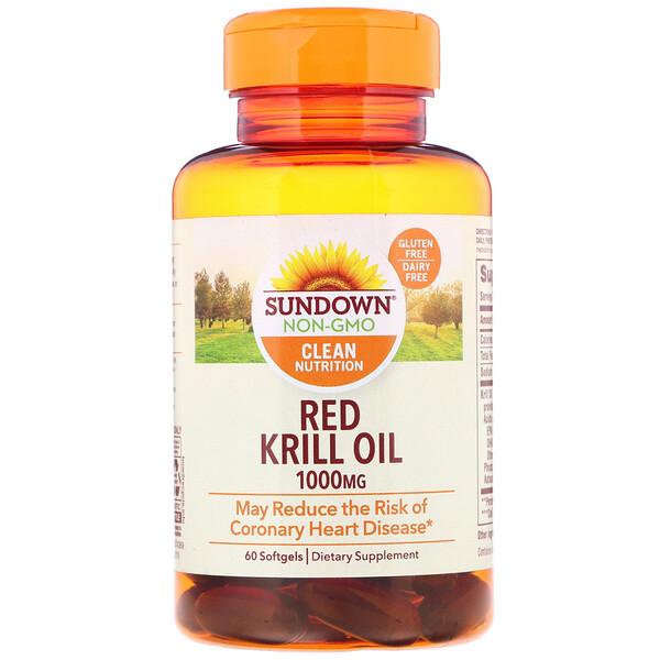 Масло красного криля, 1000мг, 60мягких таблеток