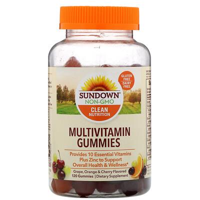 Купить Мультивитаминные жевательные конфеты, со вкусом винограда, апельсина и вишни, 120шт.