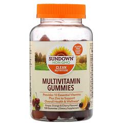 Sundown Naturals, Multivitamin Gummies, Grape, Orange & Cherry Flavored, 120 Gummies