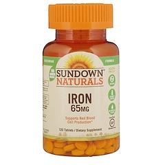 Sundown Naturals, Essential Iron, 65 mg, 120 Tablets