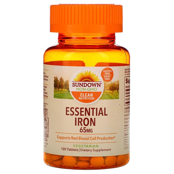Essential Iron, 65 mg, 120 Tablets