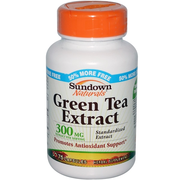 Sundown Naturals, Green Tea Extract, 300 mg, 75 Capsules (Discontinued Item)