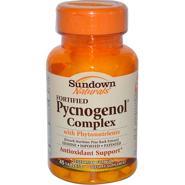 Sundown Naturals, Fortified Pycnogenol Complex with Phytonutrients, 45 Tablets (Discontinued Item)