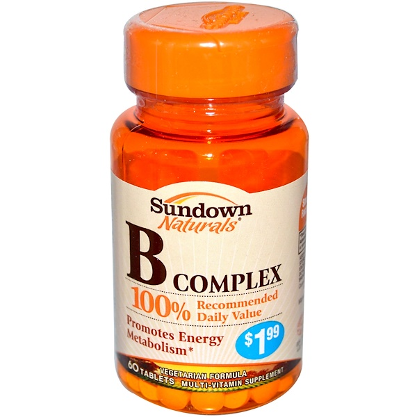 Sundown Naturals, B Complex, 60 Tablets (Discontinued Item)