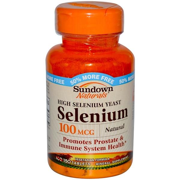Sundown Naturals, High Selenium Yeast, Selenium, 100 mcg, 150 Tablets (Discontinued Item)