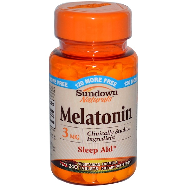 Sundown Naturals, Melatonin, 3 mg, 240 Tablets (Discontinued Item)