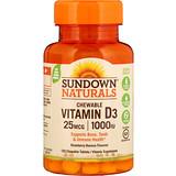 Отзывы о Sundown Naturals, Витамин D3 с клубнично-банановым вкусом, 25 мг (1000 МЕ), 120 жевательных таблеток