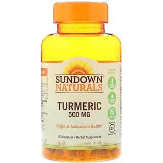Sundown Naturals, 薑黃,500 毫克,90 粒膠囊