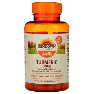 Sundown Naturals, Turmeric, 500 mg, 90 Capsules