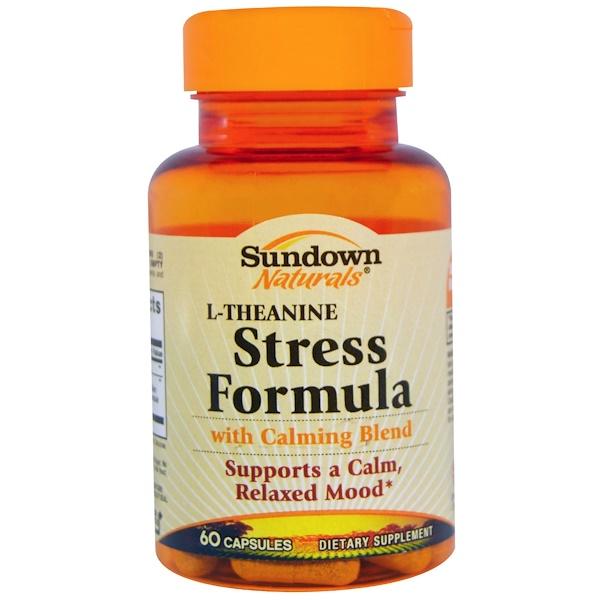Sundown Naturals, Stress Formula, L-Theanine, 60 Capsules (Discontinued Item)