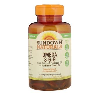 Sundown Naturals, Omega 3-6-9, 50 Softgels